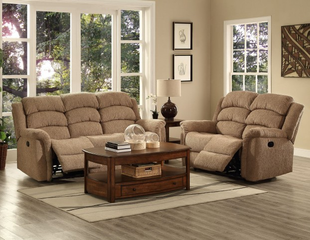 Ross Taupe Dual Reclining Living Room Set