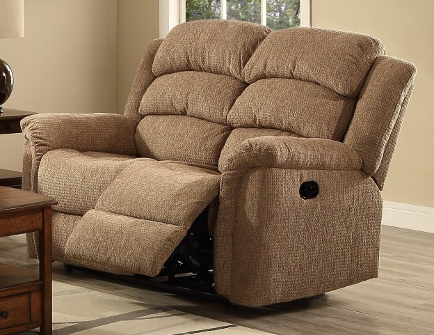 Ross Taupe Dual Reclining Loveseat