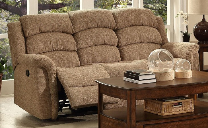 Ross Taupe Dual Reclining Sofa