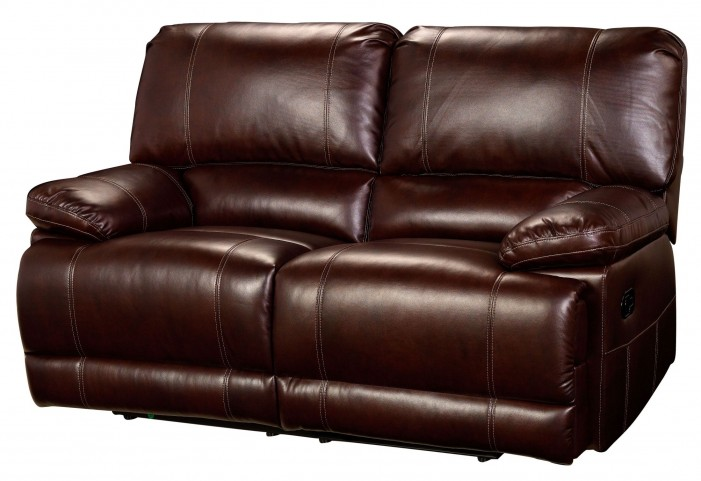 Wyoming Newark African Chestnut Power Reclining Loveseat