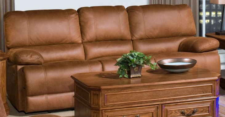 Montana Canyon Brown Power Reclining Sofa