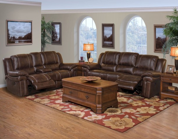 Hastings Summit Brown Dual Reclining Living Room Set