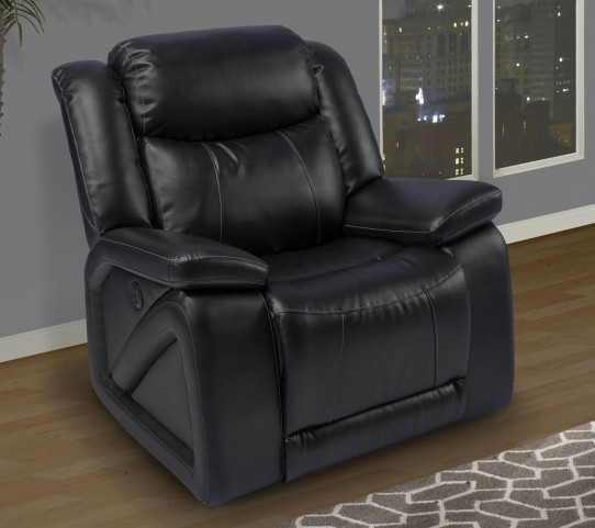 Soho Mesa Black Power Glider Recliner