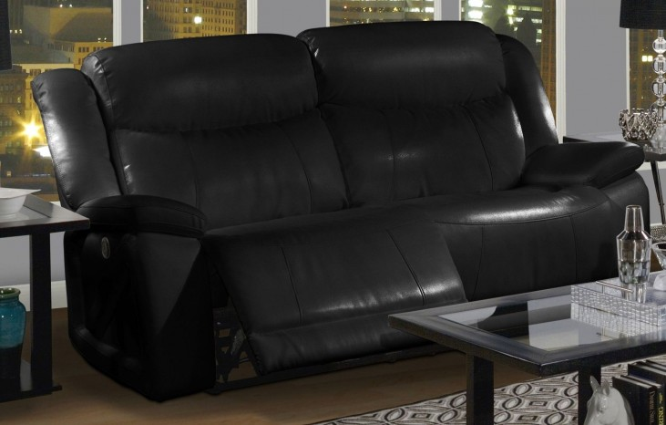 Soho Mesa Black Dual Reclining Sofa