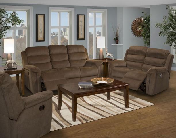 Charlotte Chocolate Dual Reclining Living Room Set