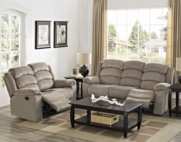 Miranda Brown Dual Reclining Living Room Set