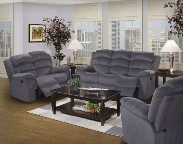 Miranda Navy Dual Reclining Living Room Set