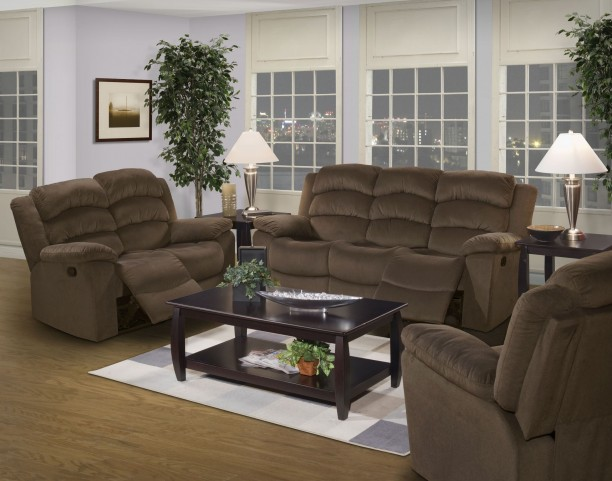 Miranda Chocolate Dual Reclining Living Room Set