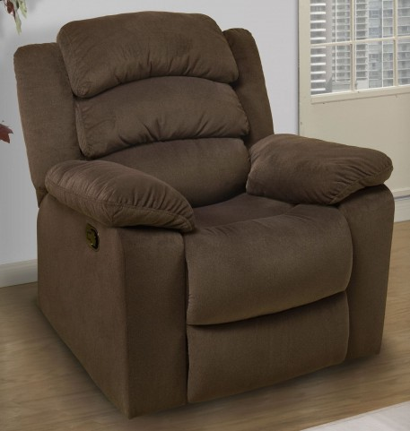 Miranda Chocolate Recliner