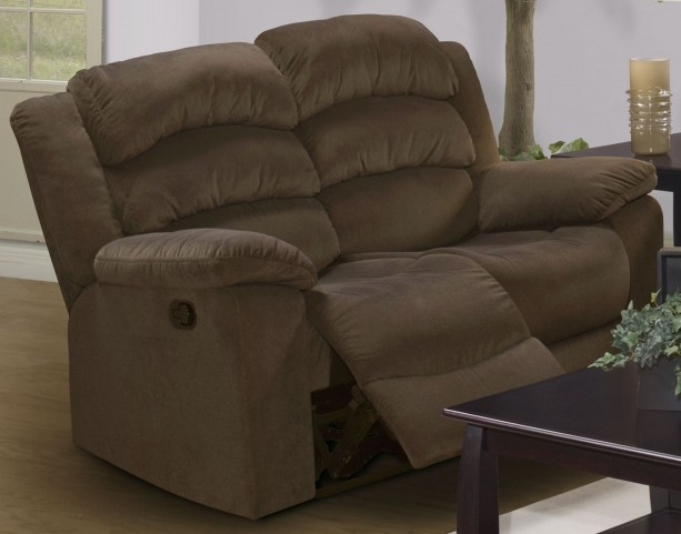 Miranda Chocolate Dual Reclining Loveseat