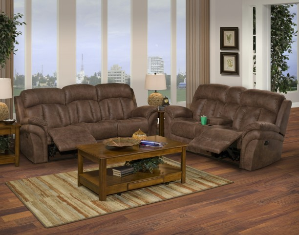 Maddox Bristol Mocha Dual Reclining Living Room Set