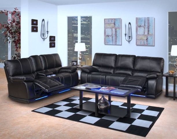 Electra Mesa Black Dual Reclining Living Room Set