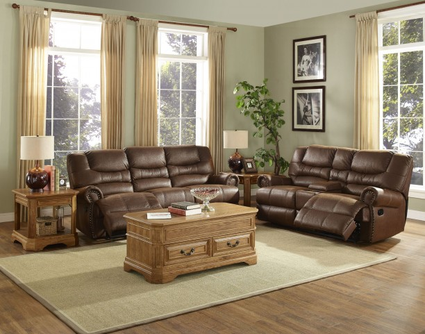 Laredo Cordova Mocha Dual Reclining Living Room Set