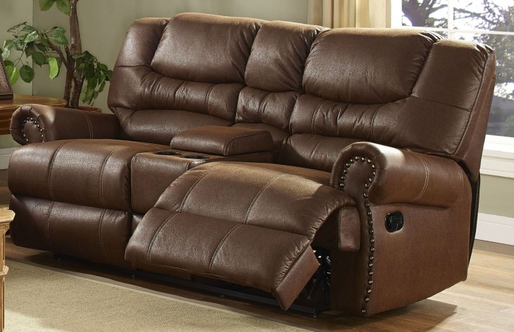Laredo Cordova Mocha Power Reclining Loveseat with Console
