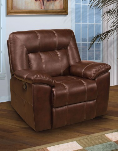 Thorton Durham Brown Glider Recliner
