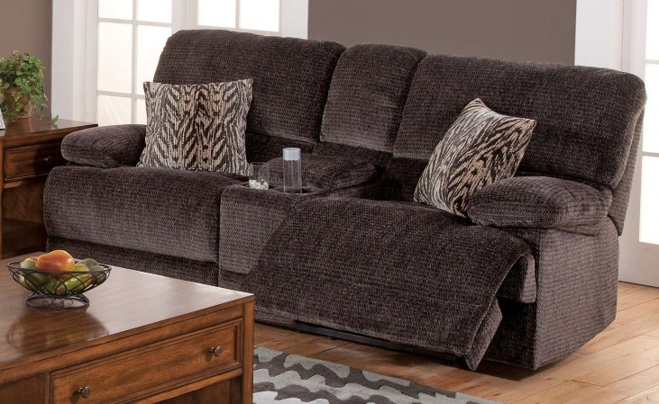 Idhao Rumour Shadow Dual Reclining Loveseat with Console