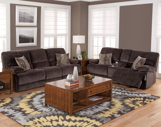 Idhao Rumour Shadow Power Reclining Living Room Set