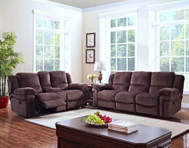 Jared Chocolate Reclining Living Room Set