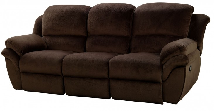 Pebble Beach Chocolate Dual Reclining Sofa