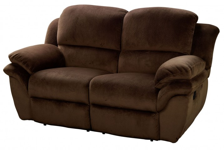 Pebble Beach Chocolate Dual Reclining Loveseat