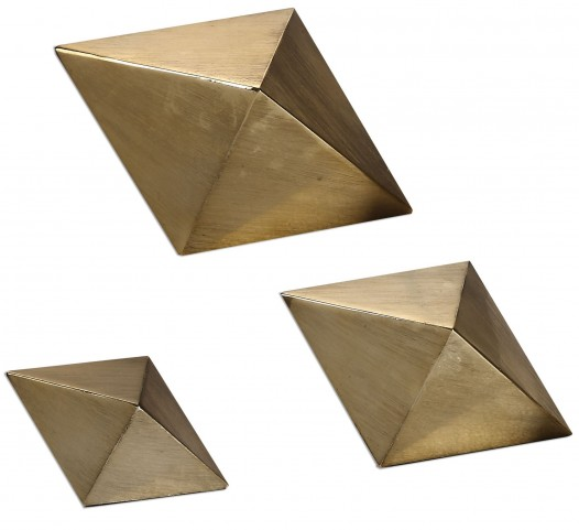 Rhombus Champagne Accents Set of 6