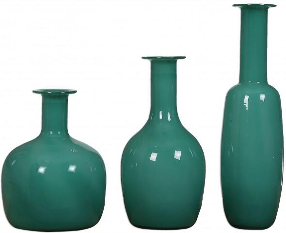 Baram Turquoise Vases Set of 6
