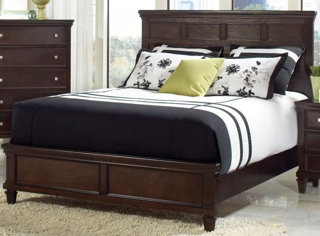 Camellia Brown Queen Panel Bed