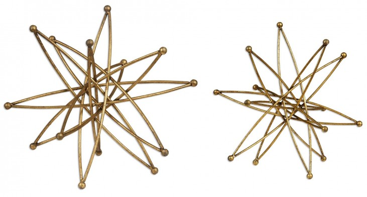 Constanza Gold Atom Accessories Set of 2