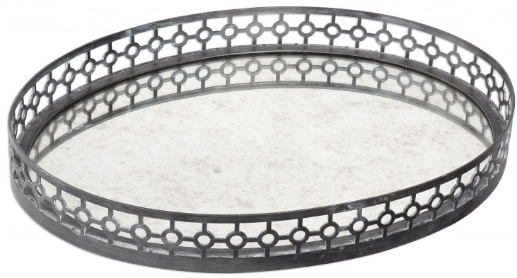 Alessandra Oxidized Gray Tray