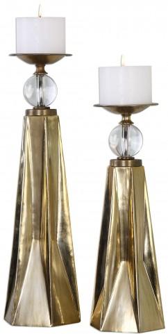 Carlino Bronze Candleholders Set of 2