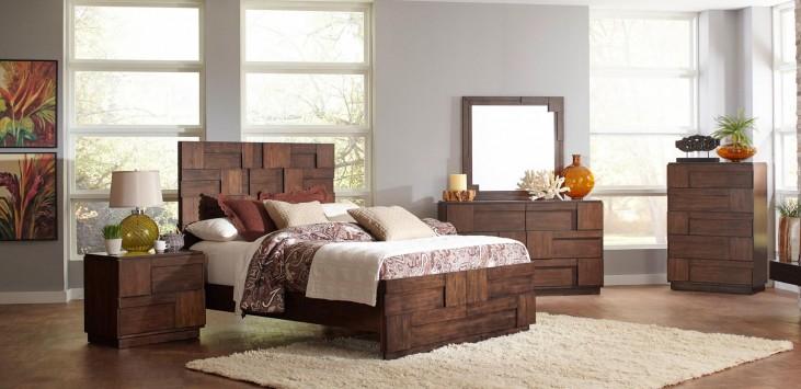 Gallagher Golden Brown Panel Bedroom Set