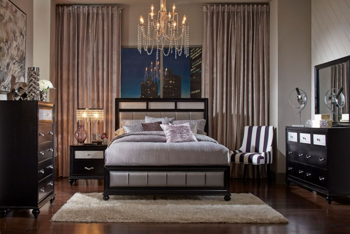 Barzini Black Platform Bedroom Set