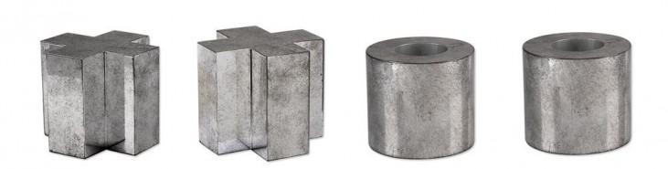 Tic Tac Toe Sculpture Set of 4