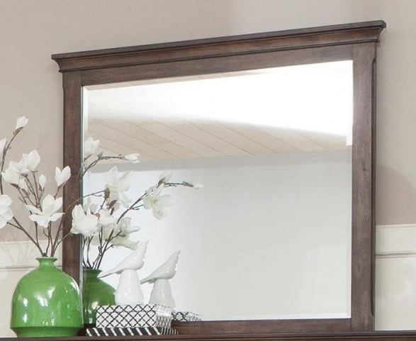 Franco Burnished Oak Mirror