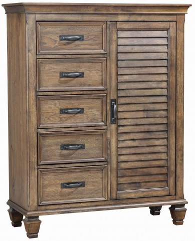 Franco Burnished Oak Men's Chest