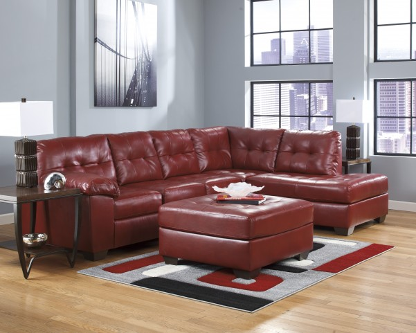 Alliston DuraBlend Salsa Right Arm Facing Sectional
