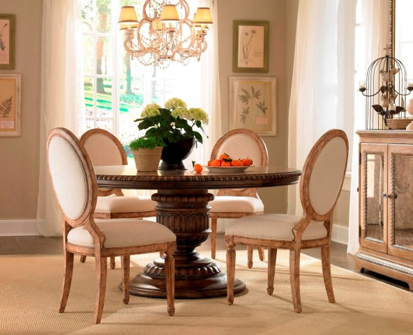 Accentrics Home Daphne Round Dining Room Set