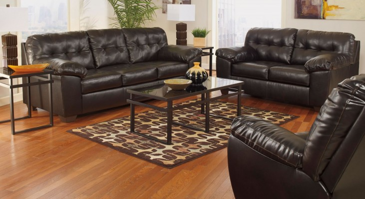 Alliston DuraBlend Chocolate Reclining Living Room Set