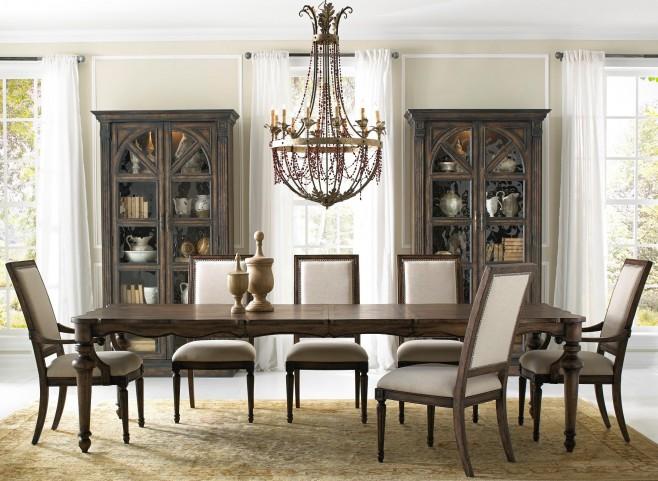 Accentrics Lucia Leg Extendable Dining Room Set