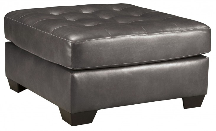 Alliston DuraBlend Gray Oversized Accent Ottoman