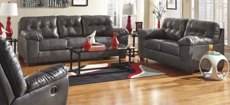Alliston DuraBlend Gray Living Room Set