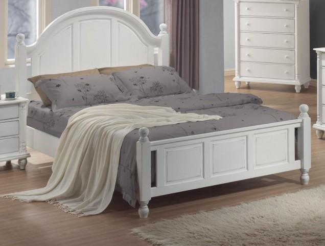 Kayla White King Bed