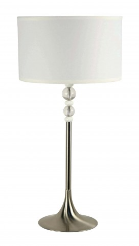 Luella Brushed Steel Table Lamp