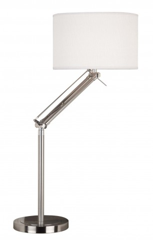 Hydra Brushed Steel Table Lamp