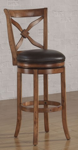 B2-201-26L Brown Wood Frame Back Bar Stool
