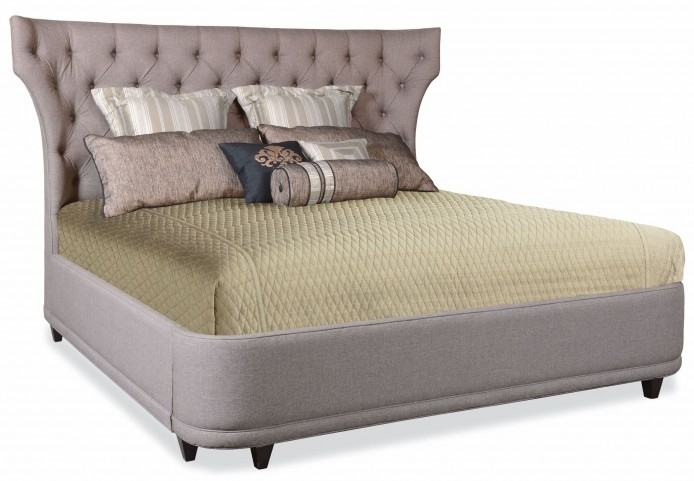 Classic King Upholstered Shelter Bed