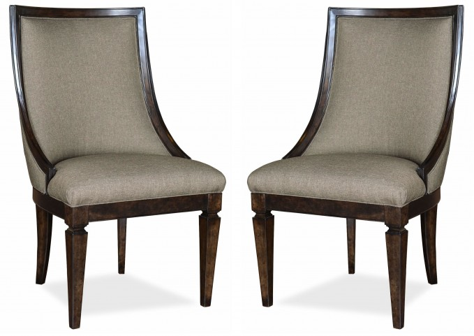Classic Upholstered Sling Chair Set of 2