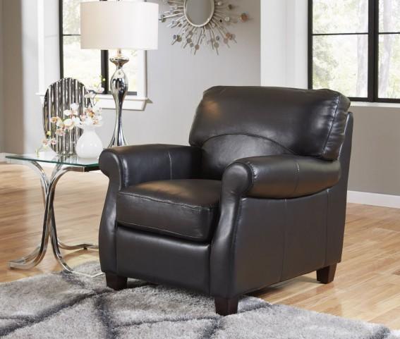 Carlisle Black Leather Chair