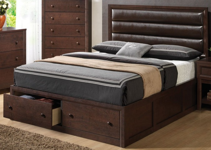 Remington King Upholstered Panel Bed