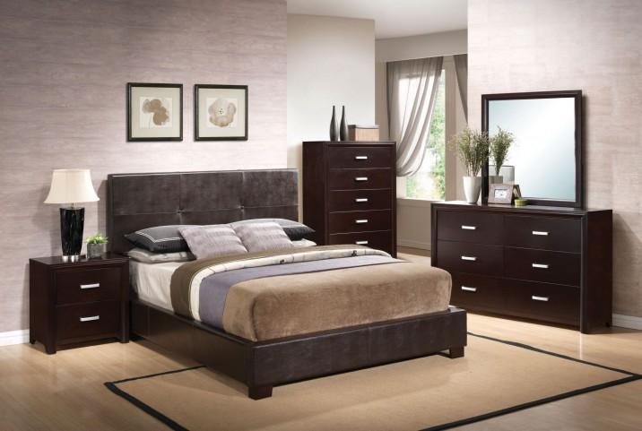Andreas Cappuccino Platform Bedroom Set